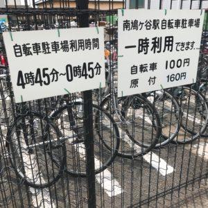 【南鳩ヶ谷駅付近の駐輪場】駅出入口から近い駐輪場が多くて便利